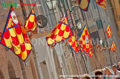 Siena, flags during the Palio