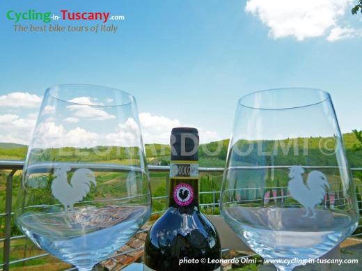 Italy, Tuscany, Chianti Classico wine, Gallo Nero