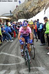 Francesco Casagrande, pink jersey at Giro d'Italia
