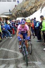 Francesco Casagrande, pink jersey at Giro d'Italia