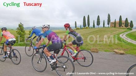 Italy, Tuscany, Pienza, cycling bike tours