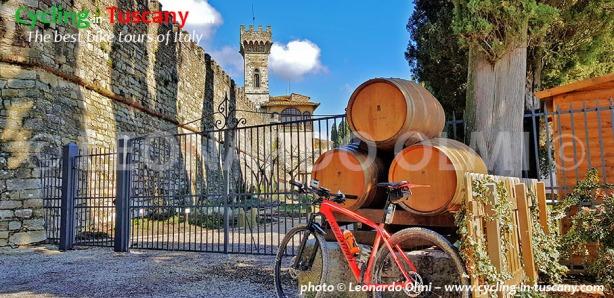 Italy, Tuscany, Chianti, vineyards, Badia a Passignano Abbey