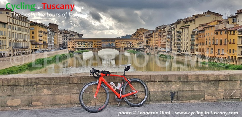 Italy, Tuscany, Florence, view from Michelangelo Square, cycling bike tours, Ponte Vecchio